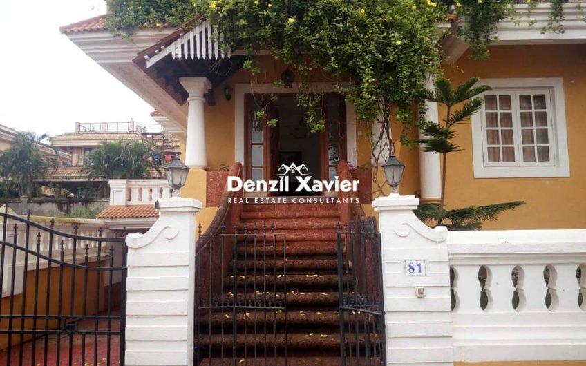 5BHK bunglow for Rent at Dona Paula